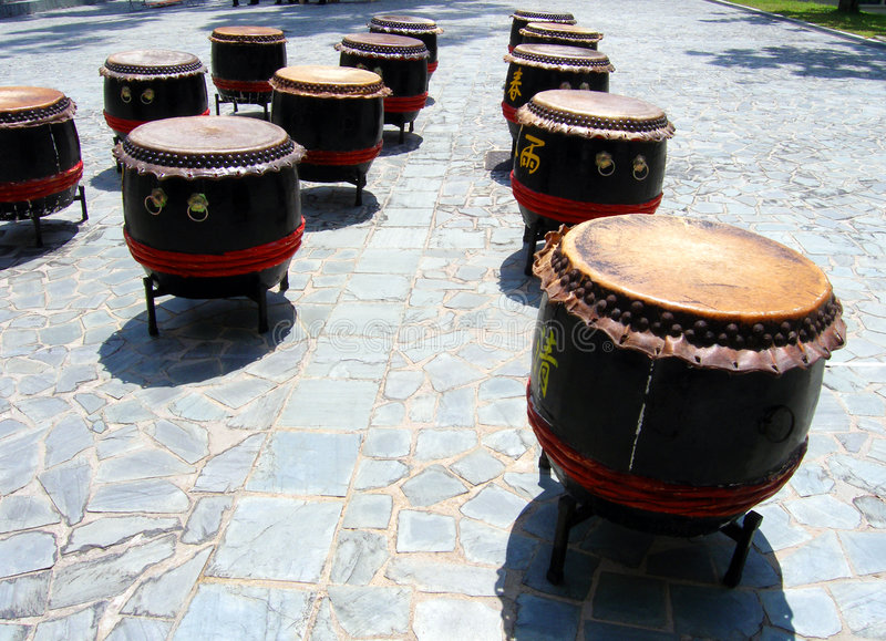 Traditional Chinese drums royalty free stock photos