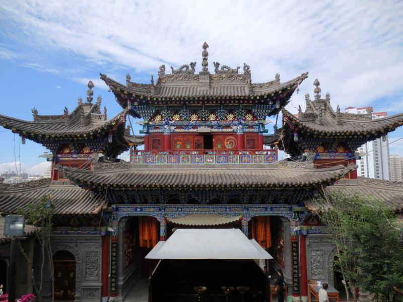 The gates of temples in western China stock photography