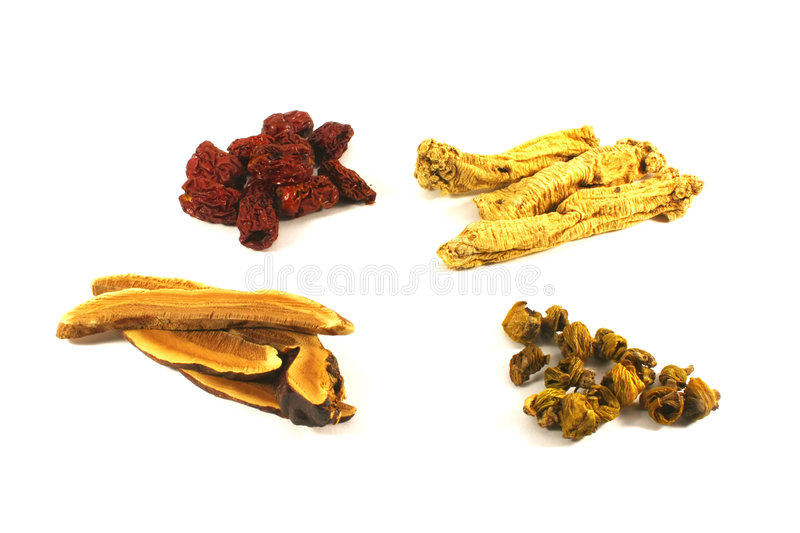 Traditional Chinese Herbs stock photography