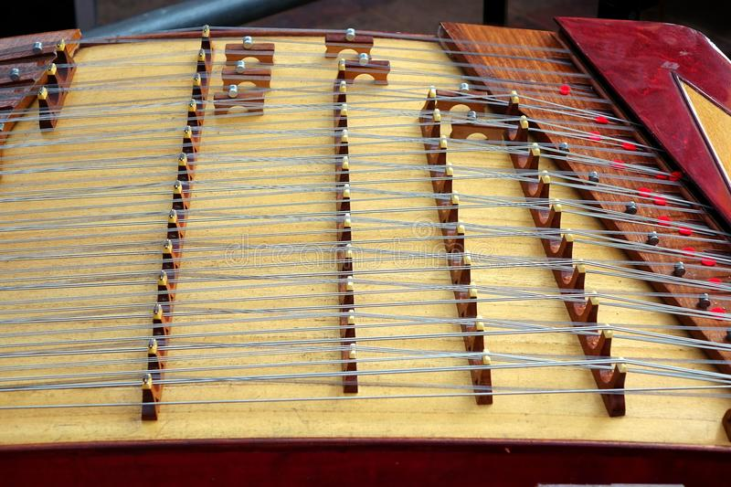 Traditional Chinese Instrument. This classic Chinese string instrument is a type of zither royalty free stock photography