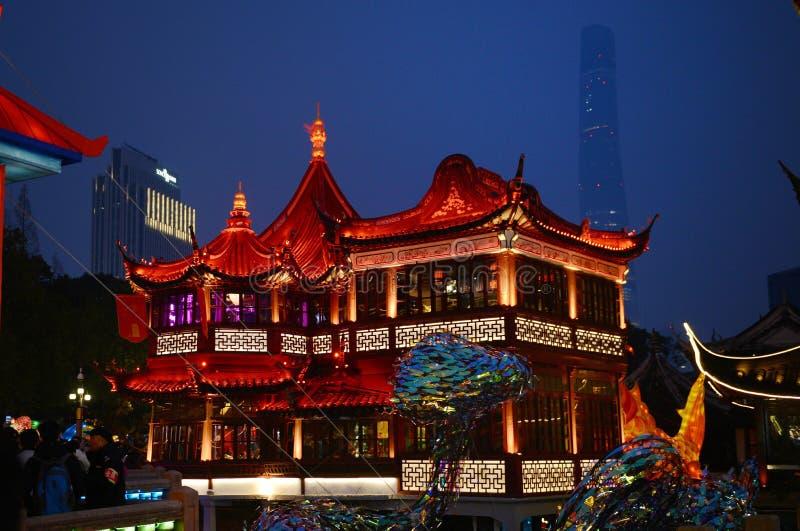 Yuyuan night view royalty free stock image