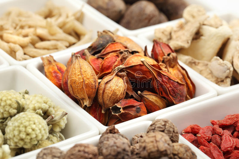 Traditional Chinese Medicine. Closeup of traditional Chinese medicine stock photos