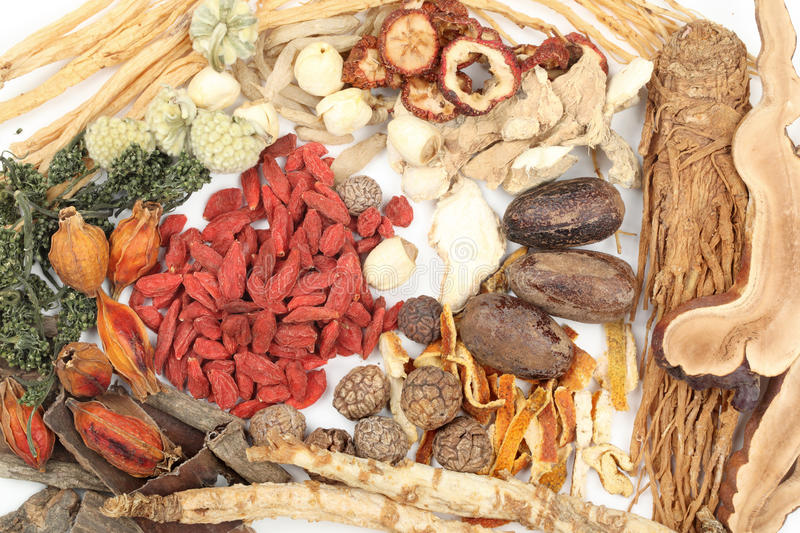 Traditional Chinese Medicine. Collection of traditional Chinese medicine stock image