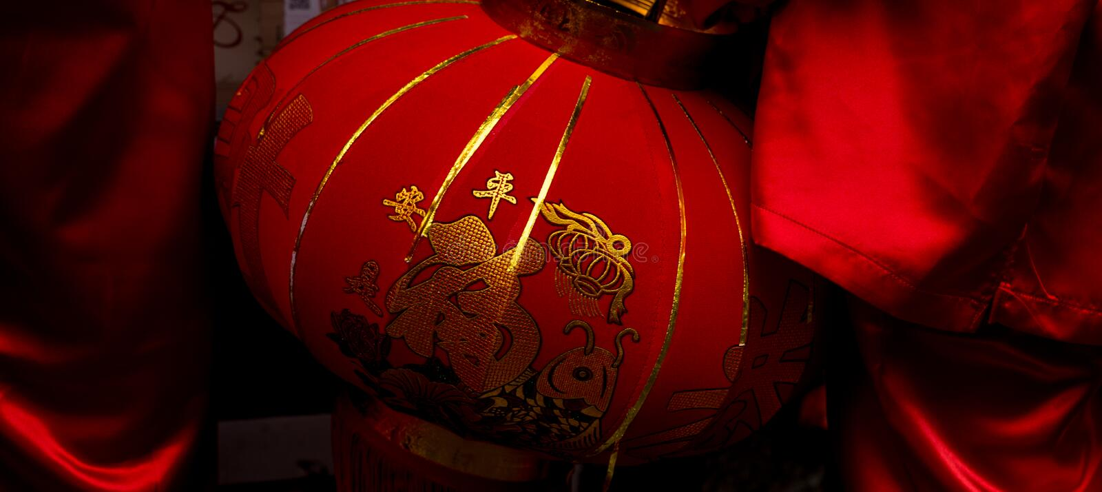 Traditional Chinese New Year Lantern royalty free stock photography