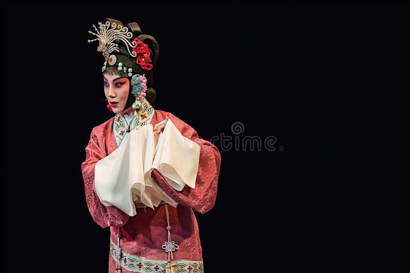Traditional Chinese opera at Chang An Theater, Beijing, China. BEIJING – JUNE 18, 2008. Chinese opera at Chang An Theater Beijing. Chinese opera is a stock image