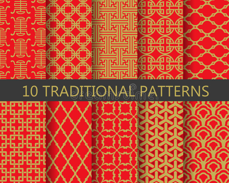 Download Traditional Chinese Pattern Set Vector Stock