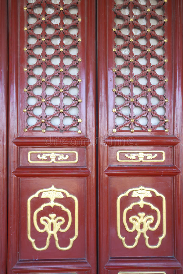 Download Traditional Chinese Red Door Of Gugong Stock Image - Image: 23917481