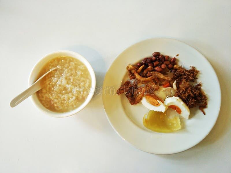 Traditional chinese rice porridge stock photos