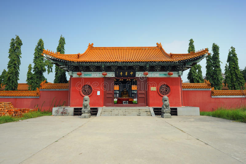 Traditional Chinese temple building royalty free stock image