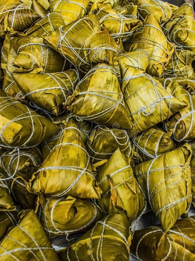 Download Traditional Chinese Zonzi Dumplings Stock Photo - Image of cantonese, brown: 25490634