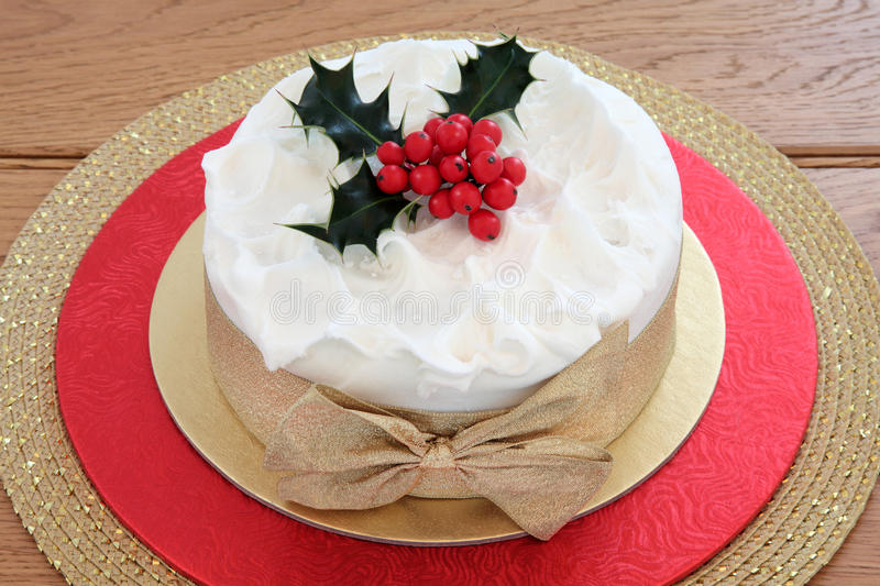 Traditional Christmas Cake royalty free stock photo