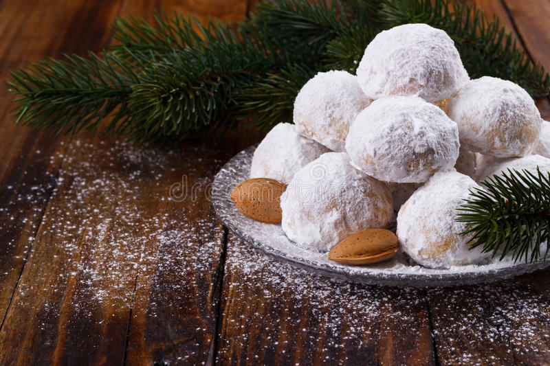 Traditional Christmas cookies royalty free stock photo