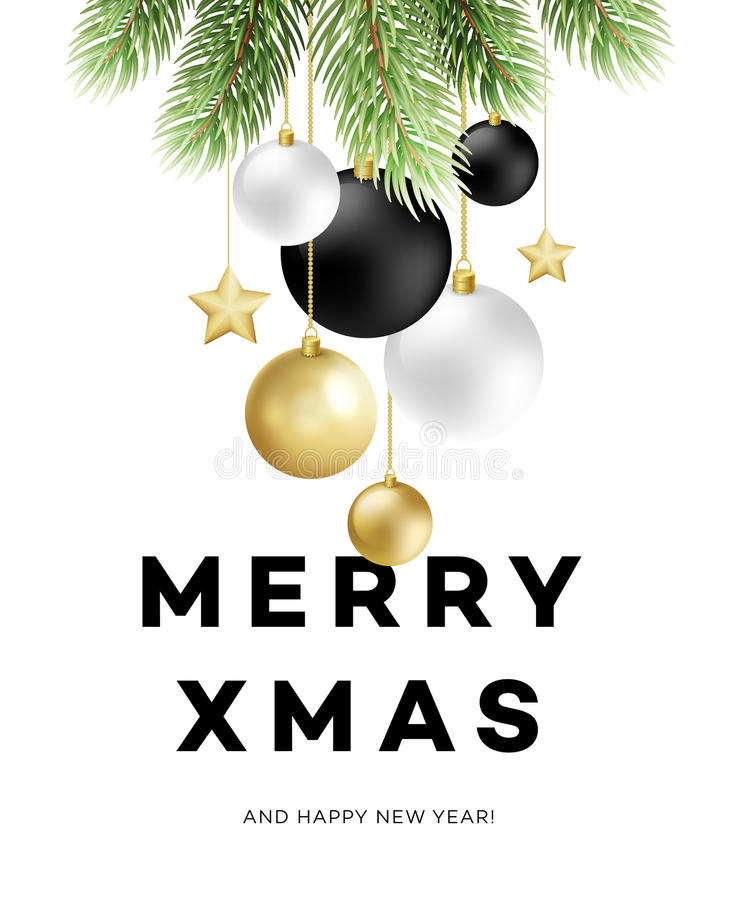 Download Traditional Christmas Decoration Elements. Modern Card Or Poster Designs. Vector Illustration Stock Vector - Illustration of modern, label: 77871424