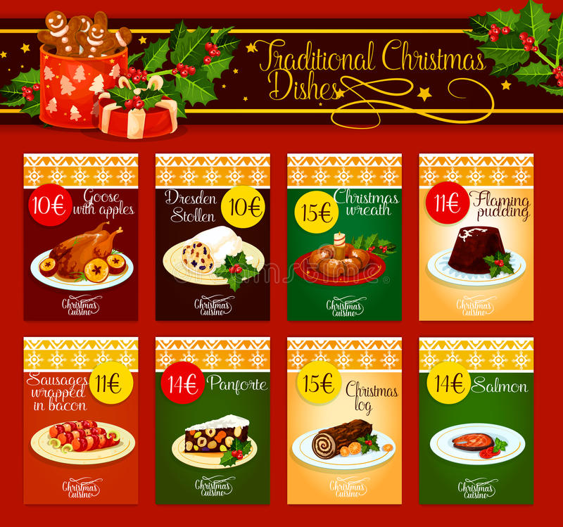 Free Traditional Christmas Dishes For Menu Design Stock Photos - 81955513