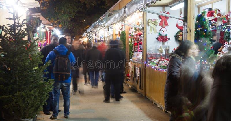 Traditional Christmas fair stock photo
