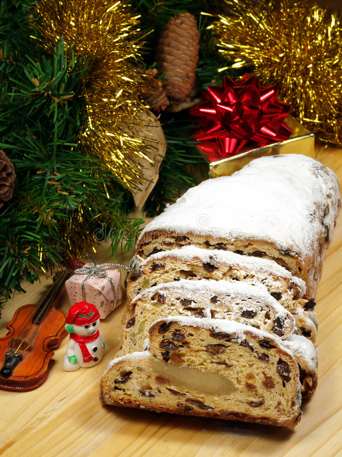 Traditional Christmas Stollen royalty free stock photo