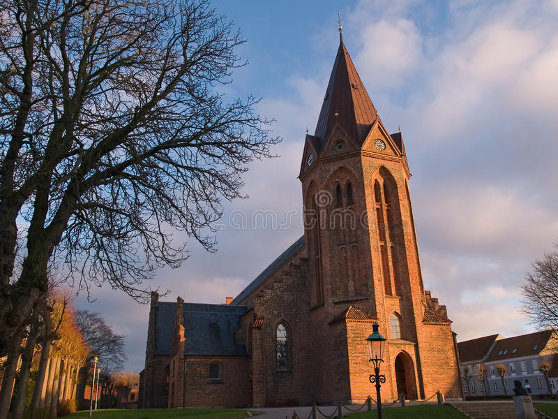 Download Traditional Church Assens Denmark Stock Photo - Image: 12261536