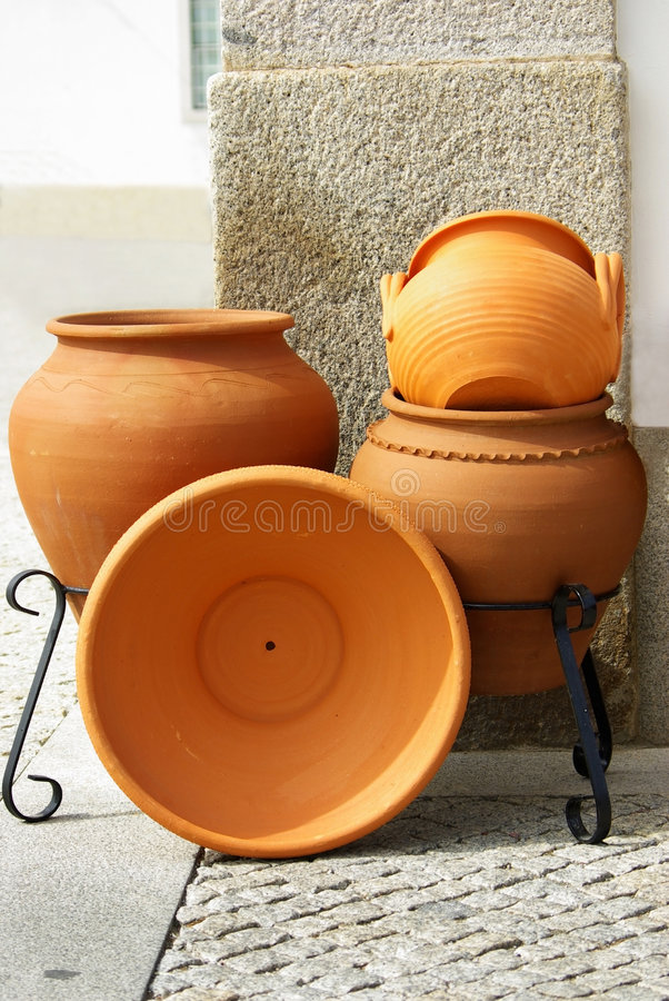 Download Traditional Clay pots stock illustration. Illustration of detail - 4628670