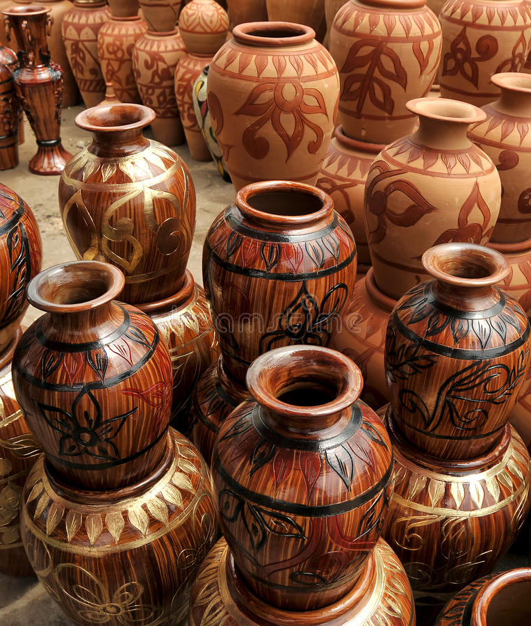 Traditional Clay Pottery stock photography