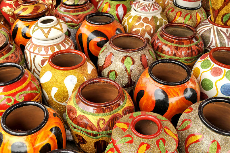 Traditional Clay Pottery royalty free stock image