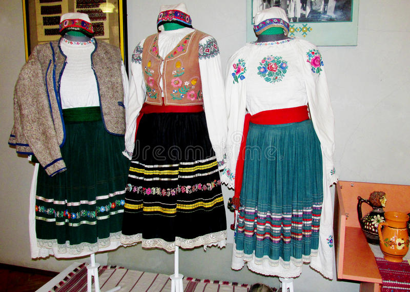 Traditional clothes of ukrainian people royalty free stock photo