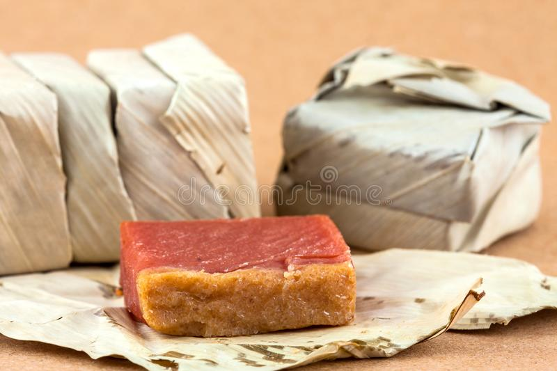 Traditional Colombian sweet called Bocadillo stock photos