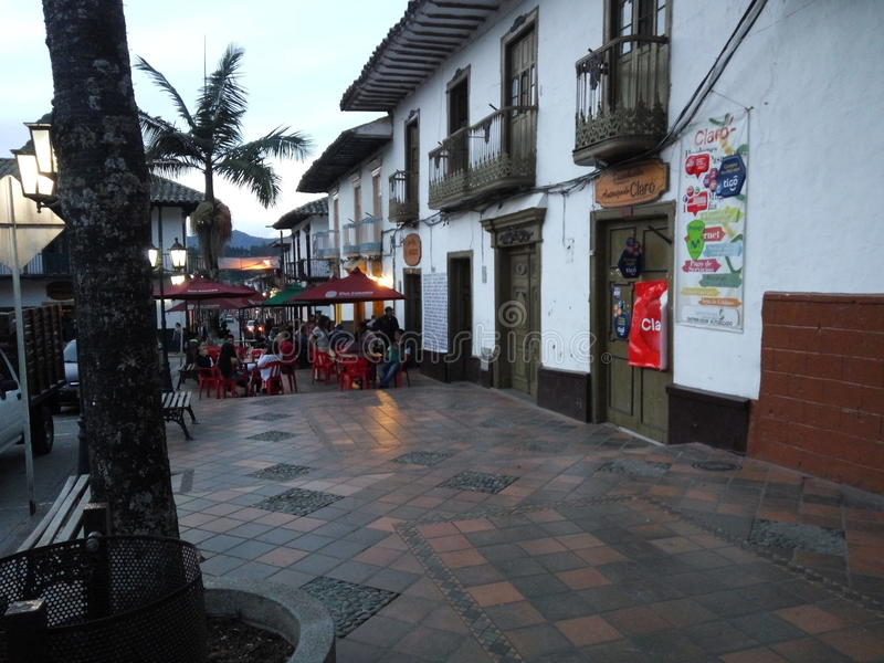 Traditional Colombian village royalty free stock photos