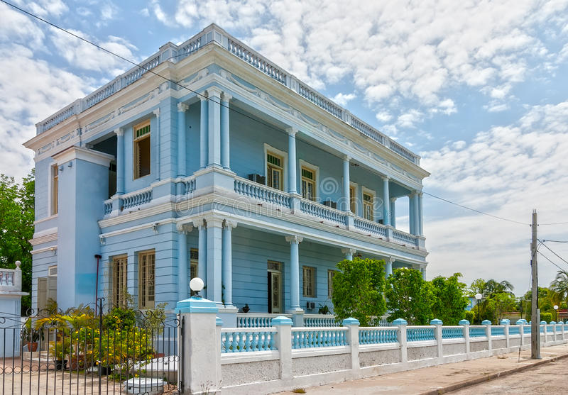 Traditional colonial style buildings located on main street royalty free stock image