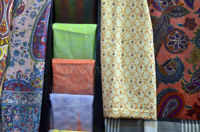 Traditional colored textile royalty free stock photography