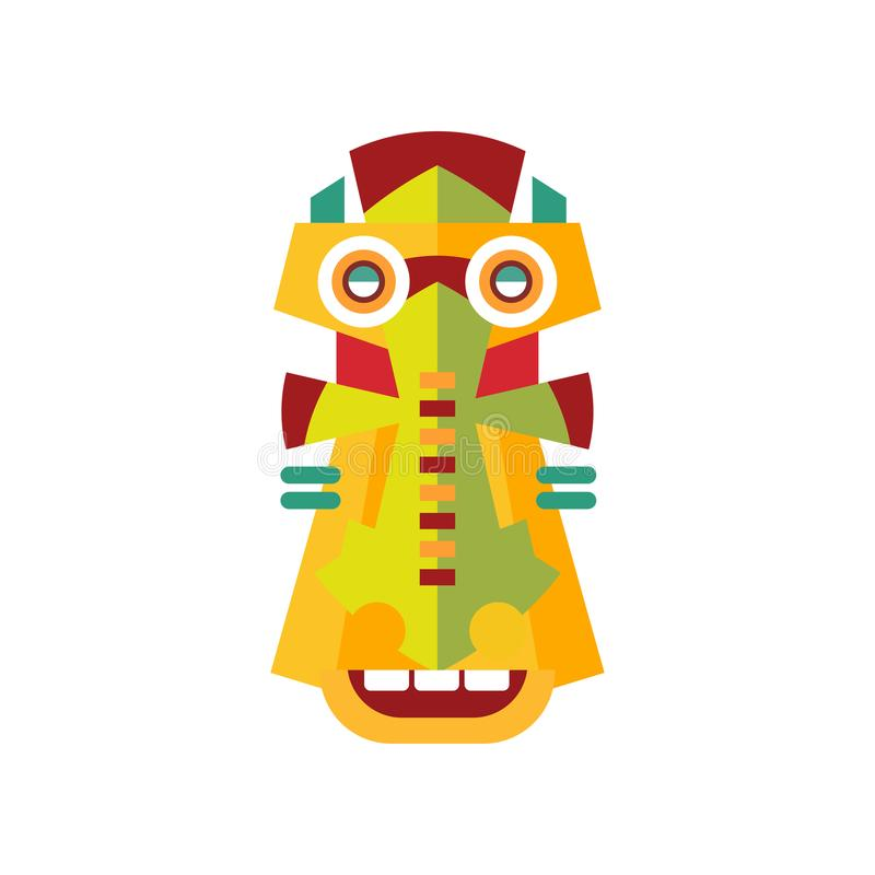 Traditional colorful aborigine facial mask vector Illustration on a white background. Traditional colorful aborigine facial mask vector Illustration isolated on stock illustration