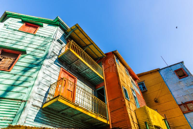 Traditional colorful houses on Caminito in La Boca neighborhood, Buenos Aires. Traditional colorful houses on Caminito in La Boca neighborhood, Buenos Aires stock photos