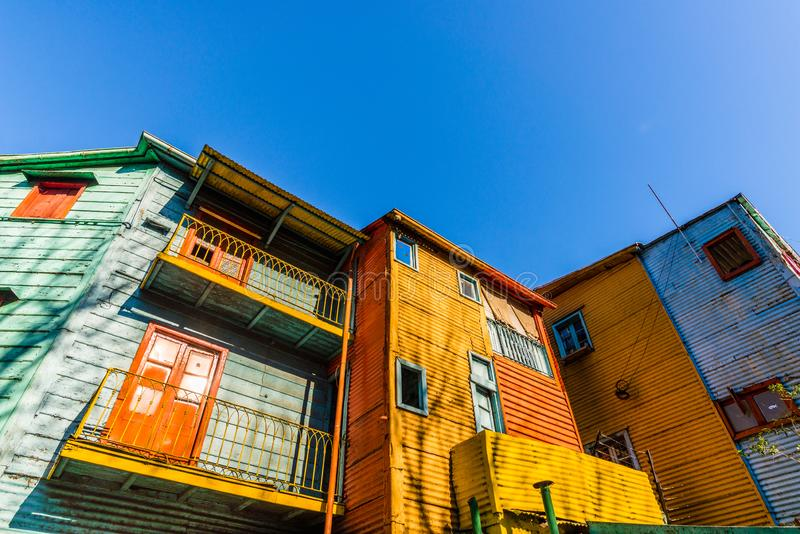 Traditional colorful houses on Caminito in La Boca neighborhood, Buenos Aires. Traditional colorful houses on Caminito in La Boca neighborhood, Buenos Aires stock images