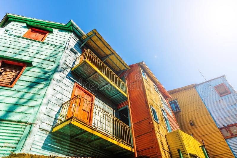 Traditional colorful houses on Caminito street in La Boca, Buenos Aires. Traditional colorful houses on Caminito street in La Boca, Buenos Aires royalty free stock photos