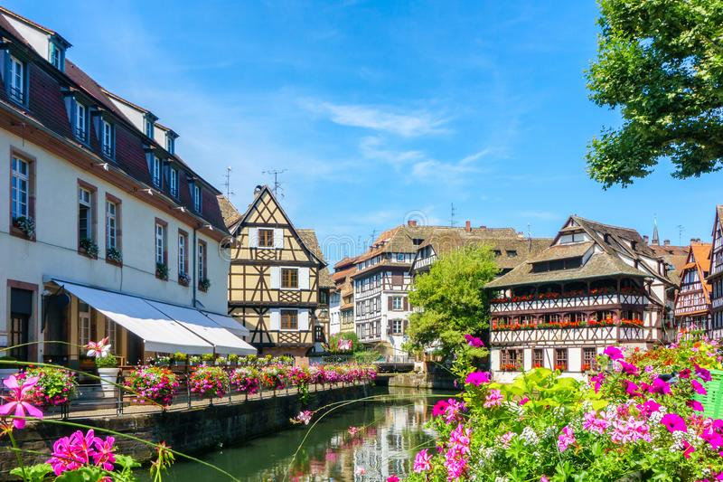 Traditional colorful houses in La Petite France, Strasbourg. Alsace, France royalty free stock photography