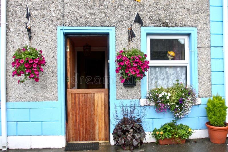 Traditional colourfull Irish house, west of Ireland stock photography