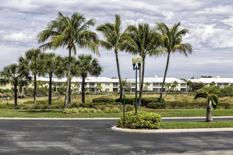 Traditional community in Naples, Florida royalty free stock photography