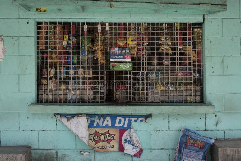 Traditional convenient store`s front in Batangas. stock photo