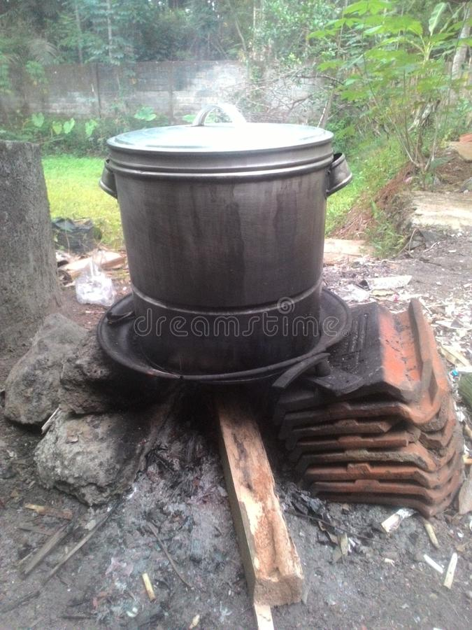 Traditional cooking at my village royalty free stock images