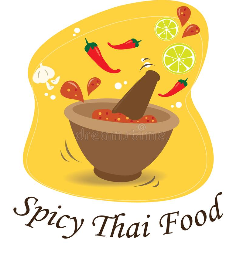 The Spicy chili sauce of Thailand. stock illustration
