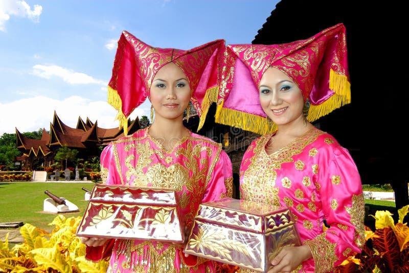 Traditional Costume of Minangkabau stock image