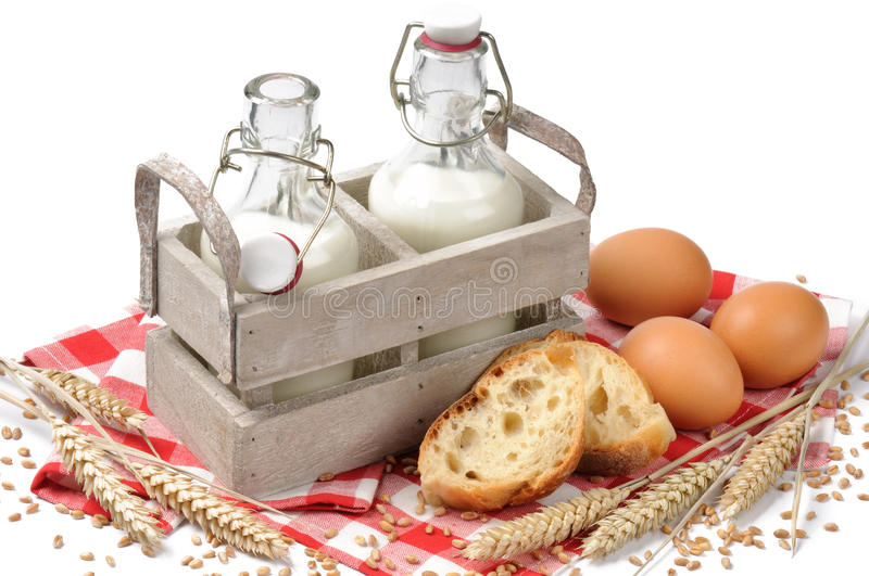 Traditional countryside breakfast royalty free stock photography