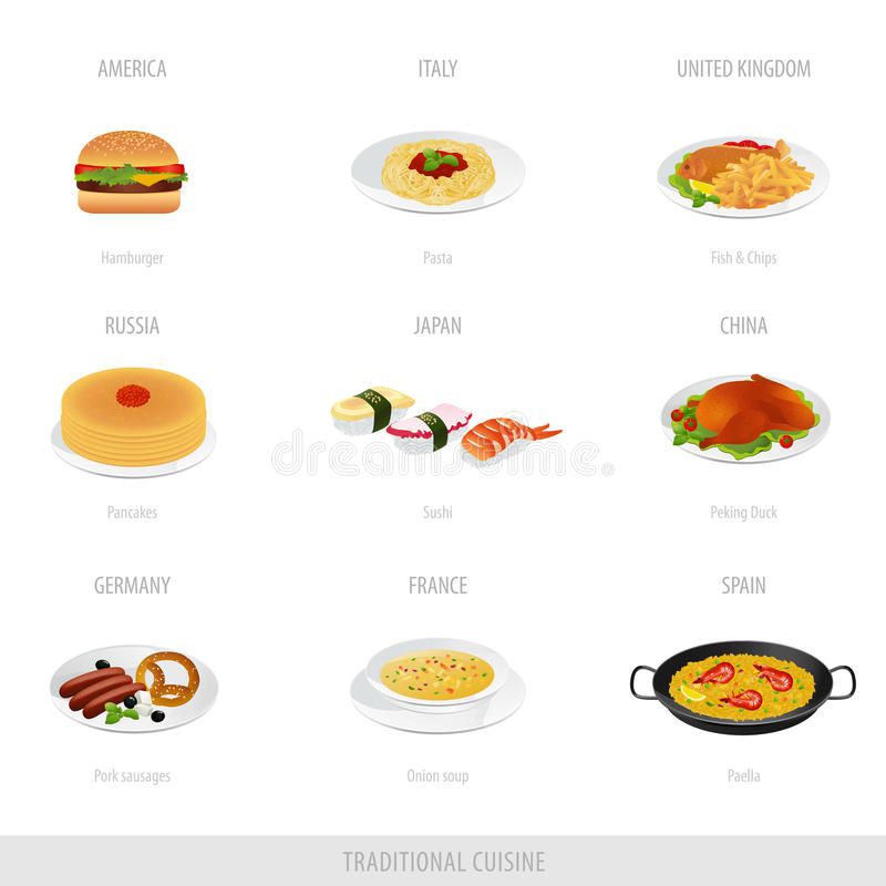 Download Traditional cuisine stock vector. Illustration of food - 23606752