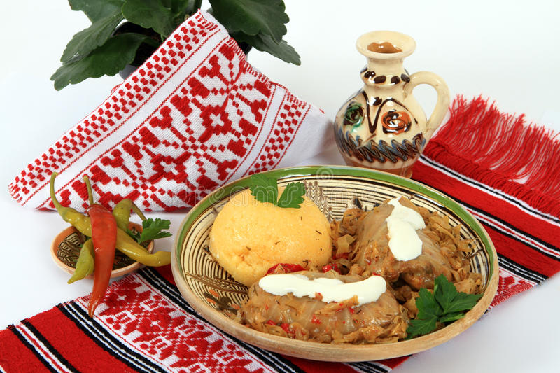 Traditional cuisine from Romania: sarmale stock image