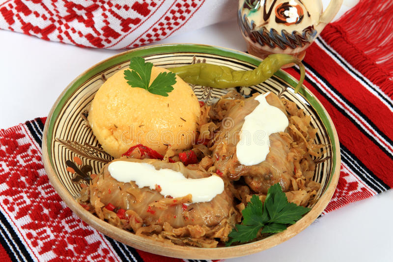 Traditional cuisine from Romania: sarmale stock photo
