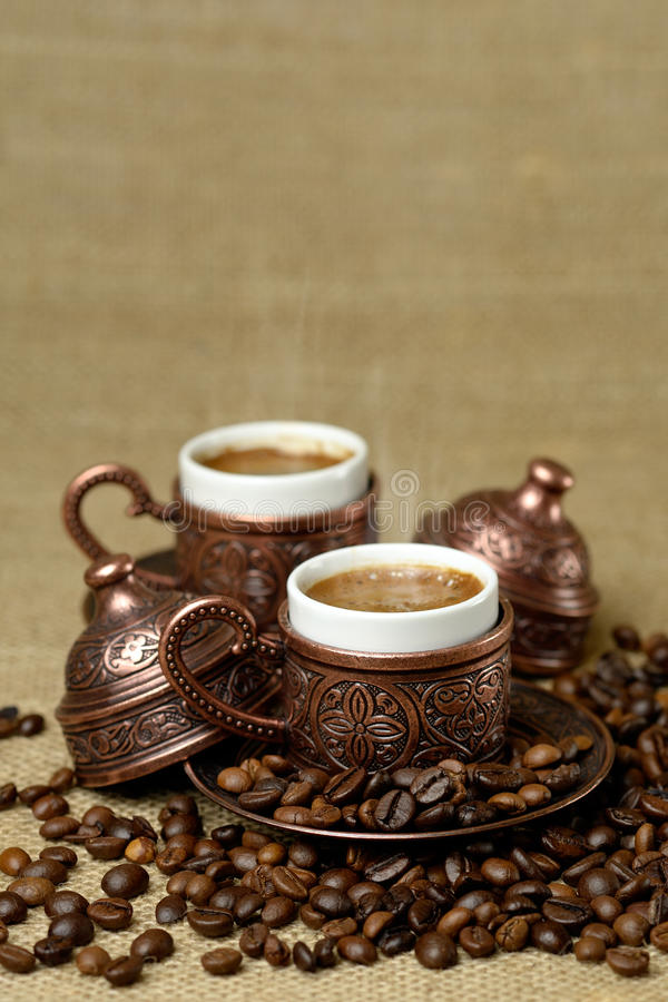 A traditional cup of turkish coffee royalty free stock image