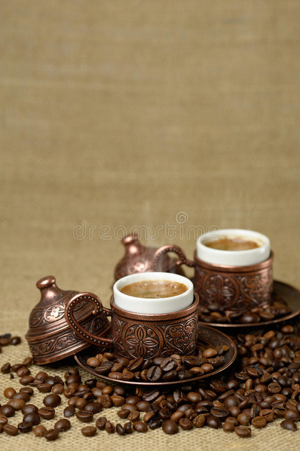 A traditional cup of turkish coffee royalty free stock photography