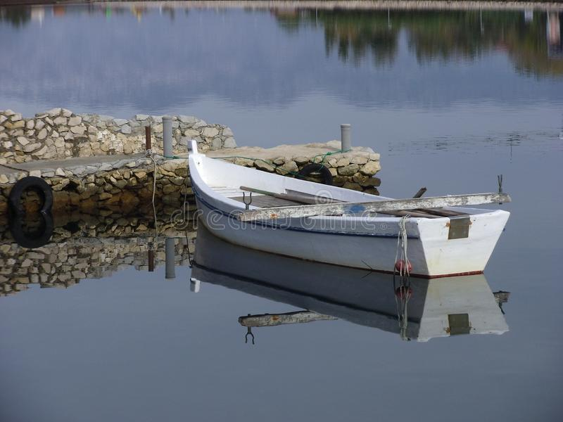 An old wooden fishing boat, Dalmatia stock photography