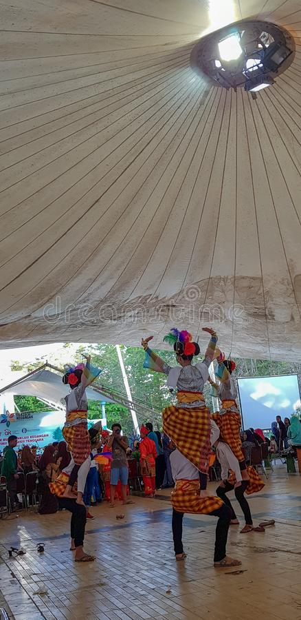 Traditional Dance. From kendari, South East Sulawesi Indonesia stock image
