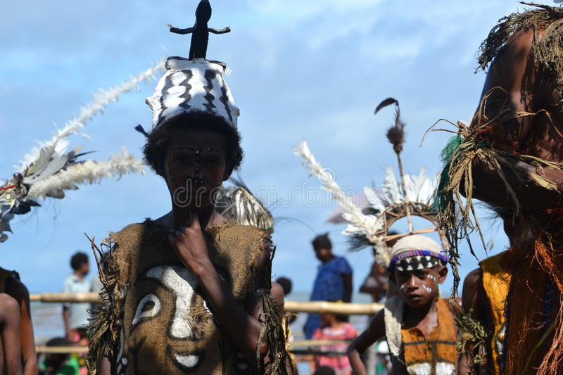 Traditional dance mask festival Papua New Guinea royalty free stock images