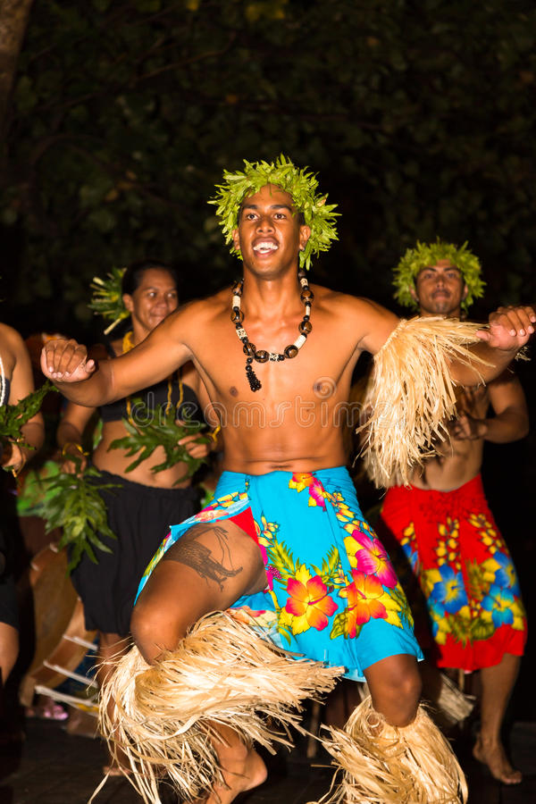 Traditional Dance By Polynesian Natives Editorial Photo